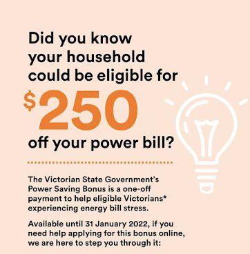 power saving Bacchus Marsh